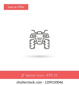 New Quad vector icon. Modern, simple, isolated, flat best quality icon for web site designs or mobile apps. Vector illustration EPS 10.