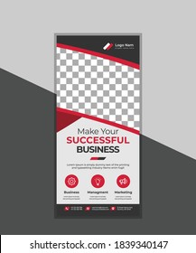 New Red Creative Corporate Modern Rack Card or DL Flyer Design