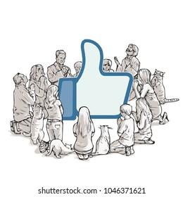 new religion social media worshipers