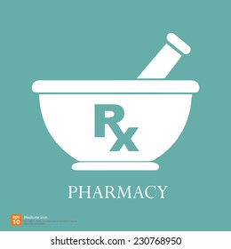 New Rx medical medicine sign vector