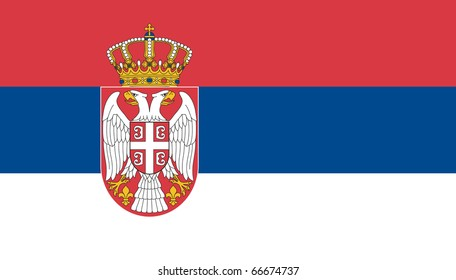 New Serbia flag VECTOR