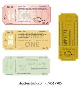 new set of ticket admit one vector
