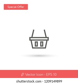 New Shopping Basket vector icon. Modern, simple, isolated, flat best quality icon for web site designs or mobile apps. Vector illustration EPS 10.