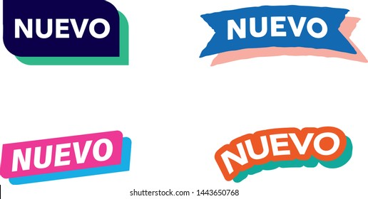 New sign icon, icons vector illustration. Nuevo vector logo on white background.