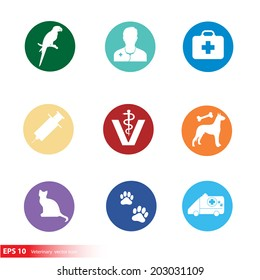 New silhouette veterinary with pet shop vector icon