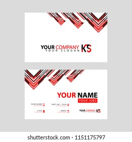 Ks images stock photos vectors shutterstock the new simple business card is red black with the ks logo letter bonus and horizontal reheart Choice Image