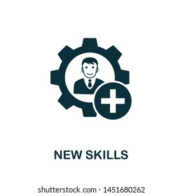 New Skills vector icon illustration. Creative sign from business management icons collection. Filled flat New Skills icon for computer and mobile. Symbol, logo vector graphics.