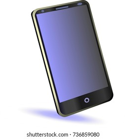 New smartphone isolated vector for the app advertising