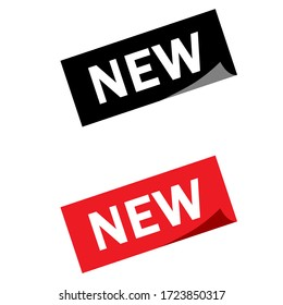 New square sticker illustration collection. New vector icon set. marketing sign.