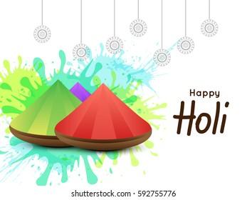 New style background Happy Holi. Indian Holi festival of colours,eps10