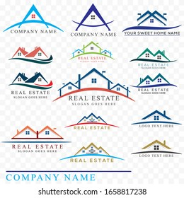 New stylish Business real Estate 15 Logos design vector elements