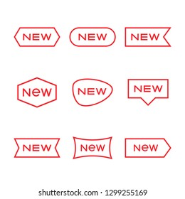 New tag symbol icon, new product, novelty, newest item