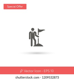 New Target vector icon. Modern, simple, isolated, flat best quality icon for web site designs or mobile apps. Vector illustration EPS 10.