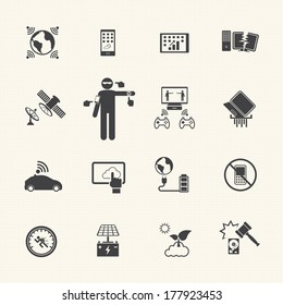New Technology Trends icons set. Vector flat design for Infographic.