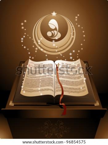 New Testament Holy Bible เวกเตอร์สต็อก (ปลอดค่าลิขสิทธิ์