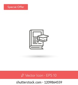 New Thesis vector icon. Modern, simple, isolated, flat best quality icon for web site designs or mobile apps. Vector illustration EPS 10.