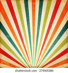 New vector Vintage Multicolor rising sun or sun ray,sun burst retro background design