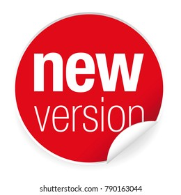 New version label tag red
