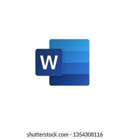 New Word icon from popular program office microsoft