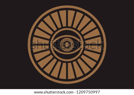 new world order eye providence conspiracy theory stock vector