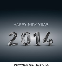 New year 2014 - 3D abstract background