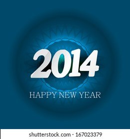 New Year 2014 for card colorful background design vector