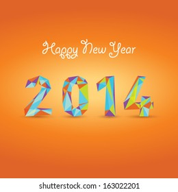 New year 2014 funny abstract background