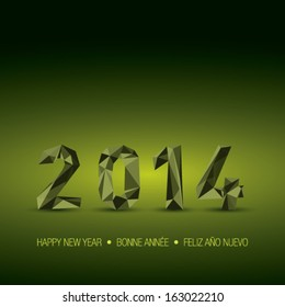 New year 2014 green abstract background