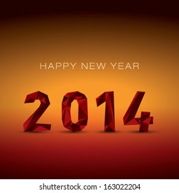 New year 2014 red abstract background