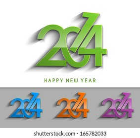 New Year 2014 Text Design
