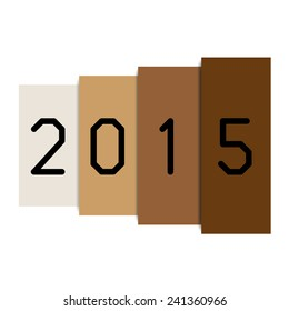 new year 2015 abstract folder style - stock vector