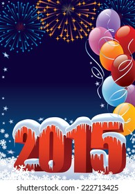 New Year 2015 decoration with copy space for your message