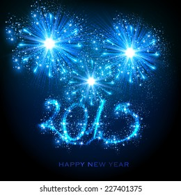 New Year 2015, easy editable