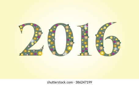 new year 2016 text design