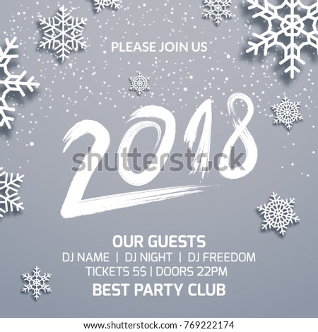 New Year 2018 Party Poster Invitation Stock Vector (Royalty Free ...