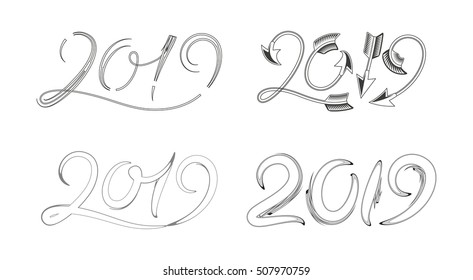 New Year 2019 Abstract Designs
