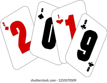 new year 2019 background , 2019 cards of luck