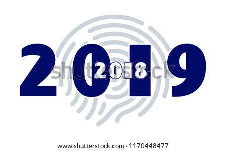 new year 2019 calendar 2018 modern minimalistic happy new year creative rooms