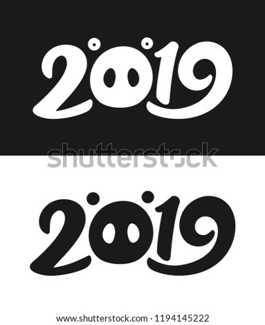 new year 2019 greeting card template stock vector royalty free