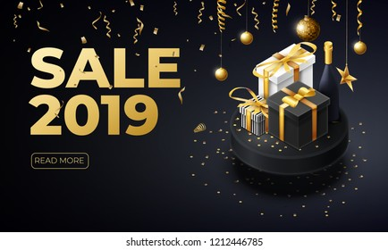 new year 2019 sale place for text