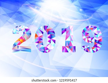 new year 2019 symbol of the new year
