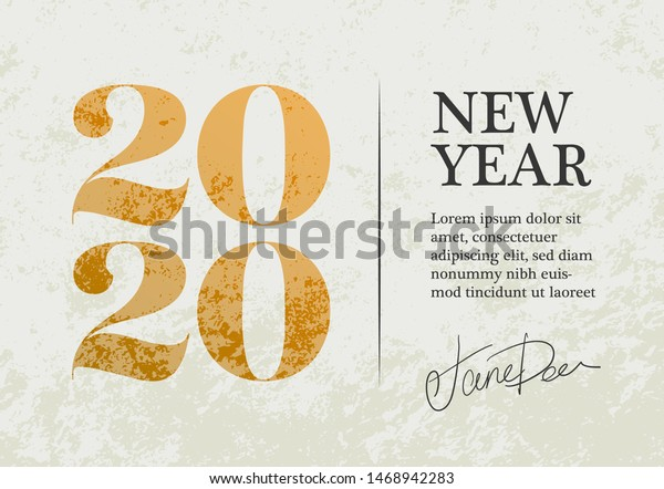 new year 2020 greeting card design stock vector royalty free 1468942283 https www shutterstock com image vector new year 2020 greeting card design 1468942283