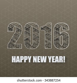 New Year background with geometric pattern. Eps 10 Vector illustration.