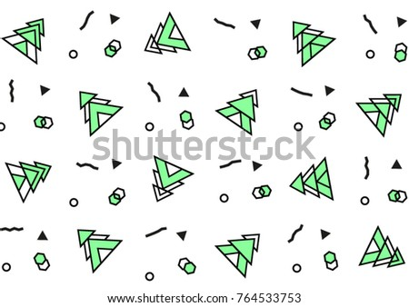 new year background green christmas trees pattern in with geometric elements pattern hipster