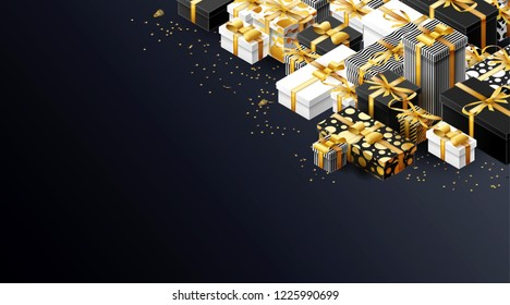 new year background with presents place for text 2019