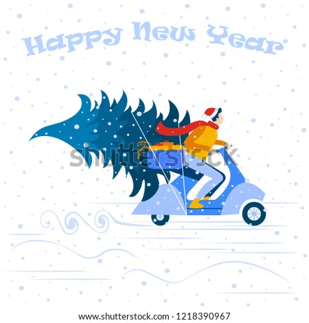 new year banner new year background vector illustration small people are preparing for the