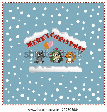 new year card cute christmas background eps10 vector file organized in layers for easy