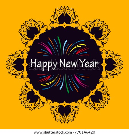 new year card in illustrator can be edit in any vector software