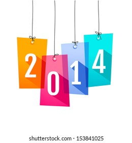 New Year card with shopping labels