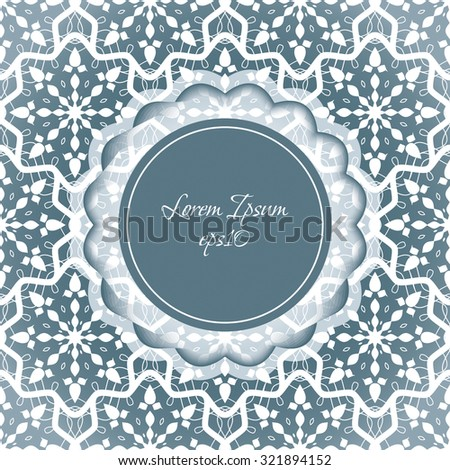 new year card wedding invitation lace in the form of snowflakes christmas